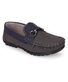 Cute Walk by Babyhug Loafer Shoes - Grey