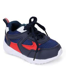 Cute Walk by Babyhug Sports Shoes With Lace Tie - Dark Blue White
