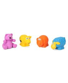 Giggles Animal Shaped Squeaky Bath Toys Pack of 4 - Multi Colour
