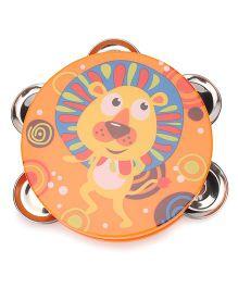 Sunny Tambourine Dafli Rattle - Orange