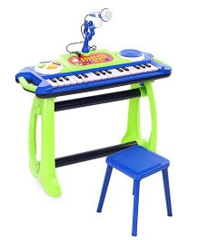 Simba My Music World Keyboard With Stand - Blue Green