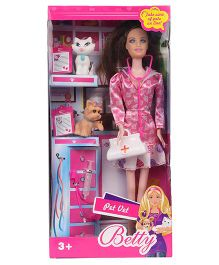 Smiles Creation Betty Pet Doctor Theme Doll Pink - 28 cm