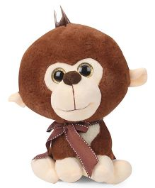 Archies Big Head Monkey Soft Toy Brown - Height 25 cm