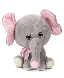 Archies Big Head Elephant Soft Toy Brown Cream - 40 cm