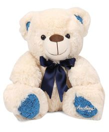 Archies Teddy Bear Soft Toy Blue Cream - Height 30 cm