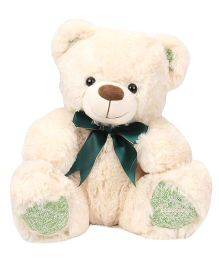 Archies Teddy Bear Soft Toy Green Cream - Height 30 cm