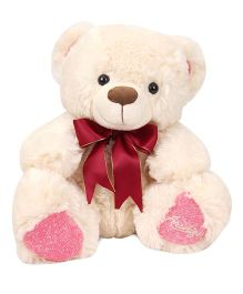 Archies Teddy Bear Soft Toy Pink Cream - Height 30 cm
