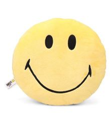 Archies Smiley Shape Cushion - Yellow