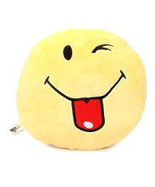Archies Smiley Shape Cushion - Yellow Red