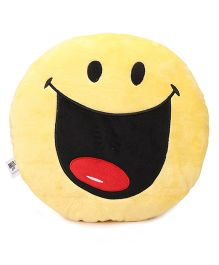 Archies Smiley Cushion - Yellow Black