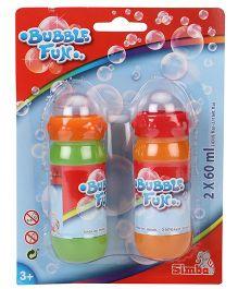 Simba Bubble Fun Liquid Set Green & Orange Pack Of 2 - 60 ml