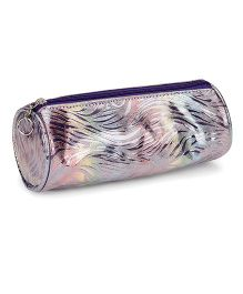 Pep India Round Pouch - Silver & Multicolor