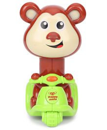 Sunny Press n Go Monkey Toy - Brown Green