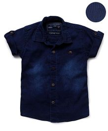 Jash Kids Half Sleeves Denim Shirt - Blue
