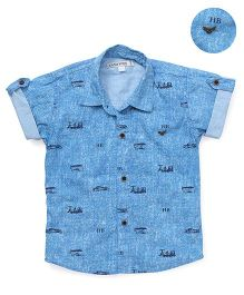 Jash Kids Half Sleeves Shirt Transport Print - Blue