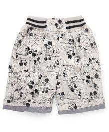 Jash Kids Shorts Printed - Light Fawn