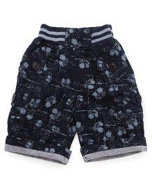 Jash Kids Shorts Printed - Navy