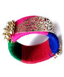 Akinos Kids Beautiful Ethnic Handmade Bangle with Beads - Multicolor