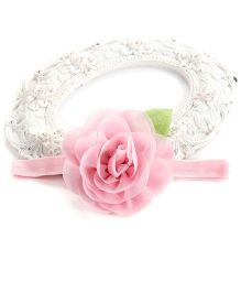 Akinos Kids Elegant Soft Rose Flower Infant Headband - Pink