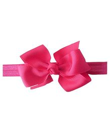 Akinos Kids Headband With A Bow - Pink