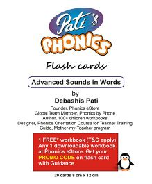 Phonics Advanced Sounds In Words Flash Cards - English