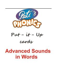 Phonics Advanced Sounds In Words Put It Up Cards - English
