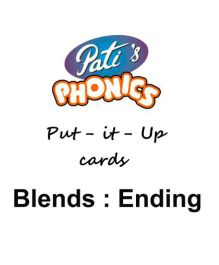 Phonics Ending Blends Sounds Put It Up Cards - English