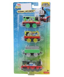 Thomas & Friends Adventure Clean Up Crew Engines Pack of 4 - Multicolour