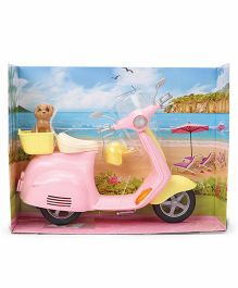 Barbie Moped - Pink Yellow