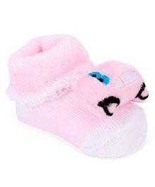 Cute Walk by Babyhug Sock Shoes Car Motif - Pink