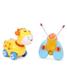 Remote Control Giraffe Toy - Orange Yellow