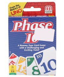 Mattel Phase 10 Card Game - 108 Pieces