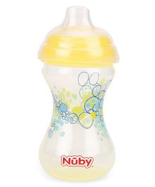 Nuby Designer Series Soft Spout Sipper Bubbles Design Yellow - 300 ml