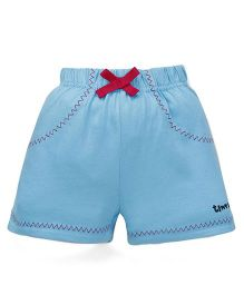 Tiny Bee Shorts For Girls - Turquoise
