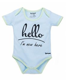 Tiny Bee Basic Onesie - Light Blue