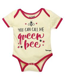 Tiny Bee Basic Printed Onesie - Yellow