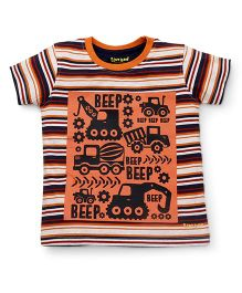 Tiny Bee Basic Tee For Boys - Orange