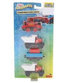 Thomas & Friends Adventures Construction Crew Pack of 4 - Multicolour