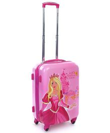 Simba Hard Trolley Bag Steffi Princess Print Pink - 20 Inches