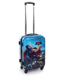 Simba Hard Trolley Bag Batman Vs Superman Print Blue - 20 Inches