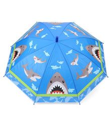 Babyhug Baby Umbrella Fish Print - Blue