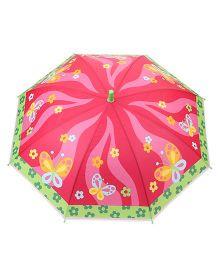 Babyhug Baby Umbrella Butterfly Print - Pink