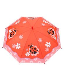 Babyhug Umbrella Lady Bug Print - Orange