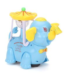 Smiles Creation Musical Elephant Toy With Projection - Blue & Yellow