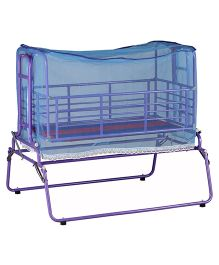 Genuine Industries Baby Pendulum Cradle With Mosquito Net - Violet