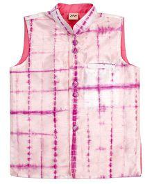 Raghav Tie N Dye Koti - Purple