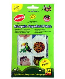 RunBugz Mosquito Repellent Patch New Animal Design - Pack Of 24