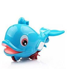 Toyhouse Pull Line Dolphin With Water Spray - Blue