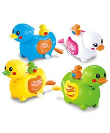 Toyhouse Wind Up Swimming Ducks Bath Toys Pack Of 4 - Multi Color