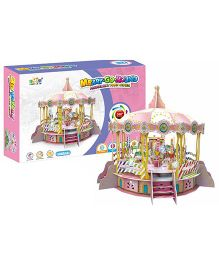 Toyhouse Electronic 3D Puzzle-Merry-Go-Round - Multi Color